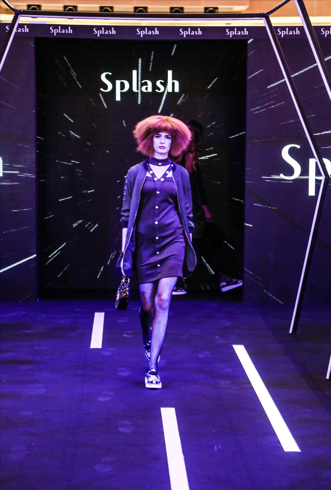 Queen of Stage Myriam Fares attends the Splash AW'17 Fashion Show